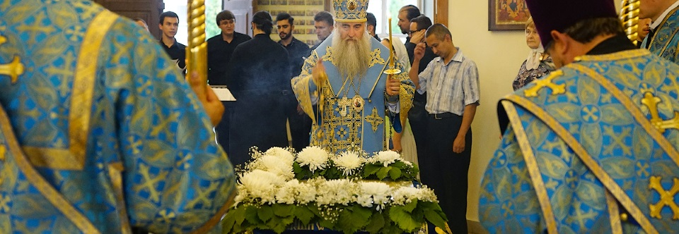 Всенощное бдение с чином Погребения Божией Матери в Свято-Троицком кафедральном соборе Вольска
