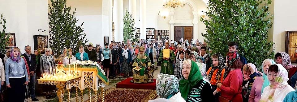 Престольный праздник в Свято-Троицком кафедральном соборе
